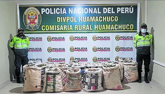 Droga iba a ser trasladada de Huamachuco hacia Trujillo, en donde iba a ser comercializada.