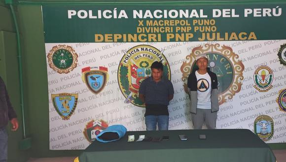 Fueron llevados a las instalaciones de la PNP Juliaca.