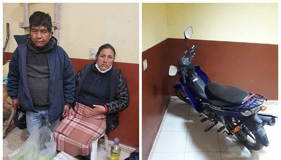 Juliaca: Un varón y una fémina cayeron con objetos robados dentro de un hospedaje