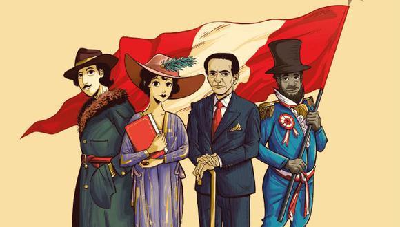 En el concurso se busca rescatar la obra de José Diez Canseco, Leonor Espinoza, Cesar Vallejo y Pancho Fierro. (Ilustración: Gonzalo Macolupú Chiu)