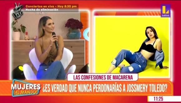 """Macarena Gastaldo asegura que Jossmery Toledo """"cometió errores"""" pero que ya le """"pidió disculpas"""". (Foto: Composición/Instagram)"""