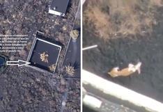 Alimentan con drones a perros que quedaron aislados por la lava del volcán en España (VIDEO)