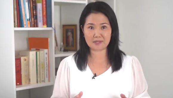 Keiko Fujimori, candidata presidencial de Fuerza Popular, anunció protocolos para su campaña electoral. (Captura)