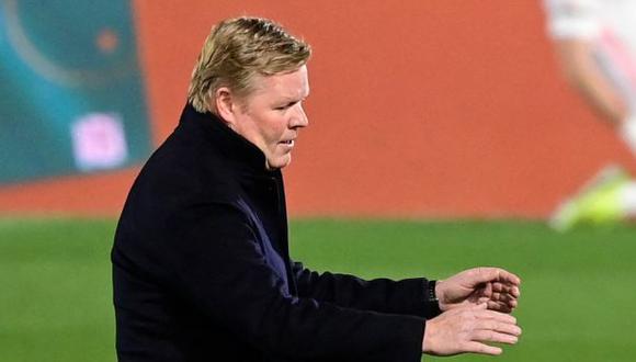 Koeman es entrenador de Barcelona desde agosto del 2020. (Foto: AFP)