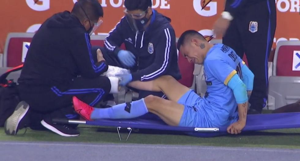 Jean Deza se lesionó con Binacional y terminó llorando (VIDEO)