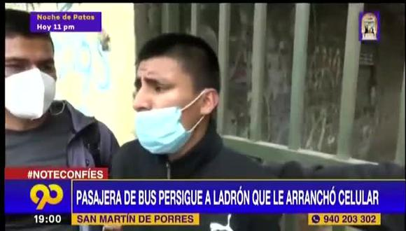 El presunto delincuente, identificado como Carlos Palomino, fue detenido por la Policía. | Foto: Latina