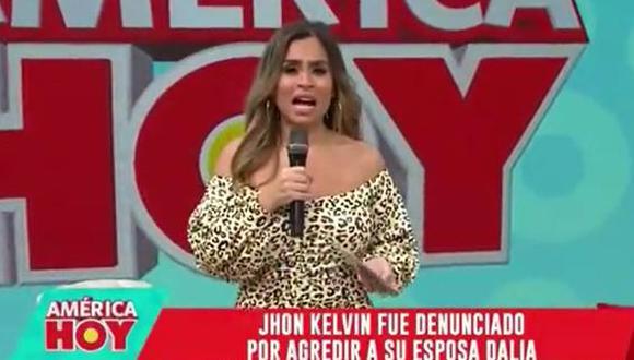 """Ethel Pozo tras agresión de John Kelvin a Dalia Durán: """"Es un hombre despreciable"""". (Foto: captura de video)"""