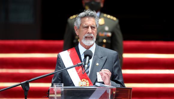 El presidente Francisco Sagasti indicó que durante su gestión tratará de que se eviten más conflictos sociales durante las manifestaciones y que se promueva el diálogo.  (Foto: Presidencia)