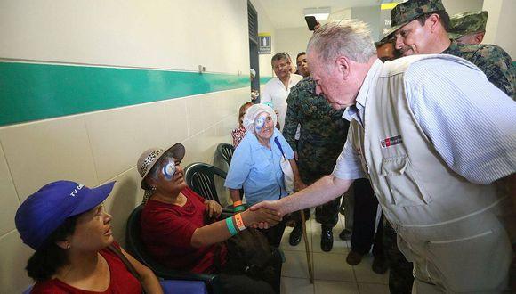 Ministro de Defensa llega a Satipo para supervisar campaña oftalmológica (VIDEO)