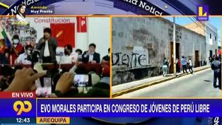 Evo Morales: Manifestaciones a favor y en contra de presencia del expresidente de Bolivia en Arequipa (VIDEO)