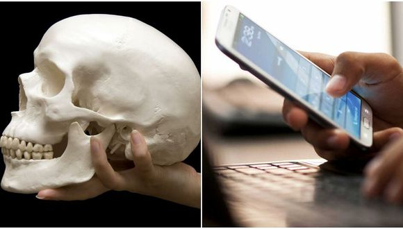 """Descubren crecimiento de """"hueso"""" debajo del cráneo por intenso uso de celulares"""