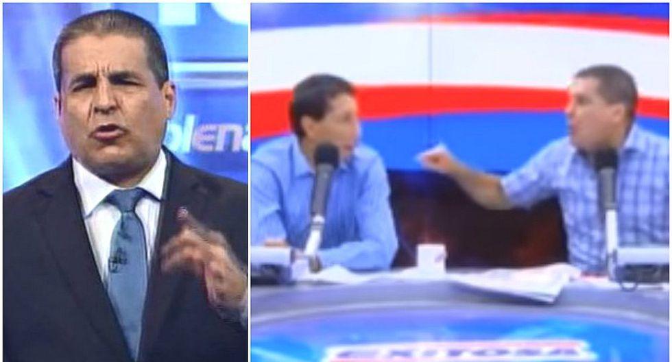Gonzalo Núñez protagoniza vergonzosa pelea con periodista en pleno programa (VIDEO)
