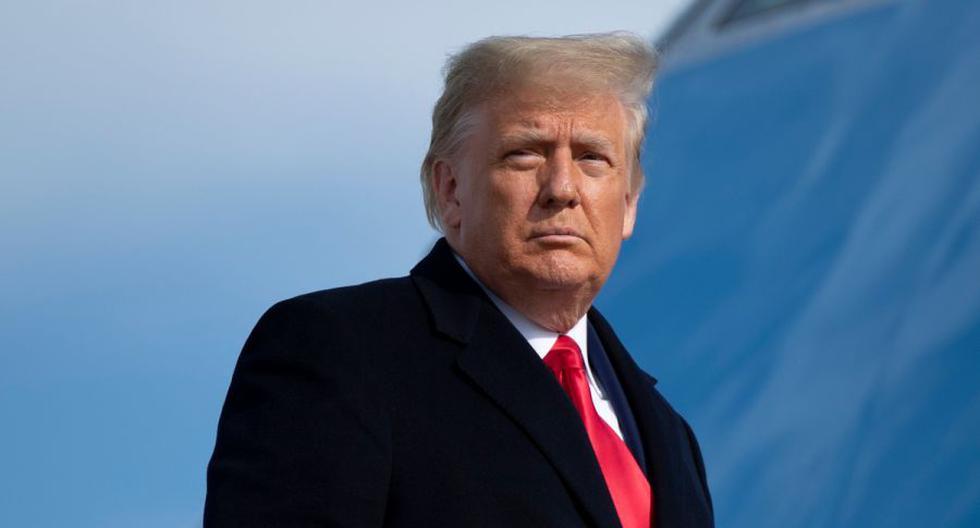 Imagen del presidente saliente de Estados Unidos, Donald Trump. (Brendan Smialowski / AFP).