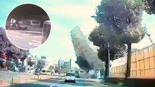 Edificio de cinco pisos se desploma y aplasta bus de servicio público