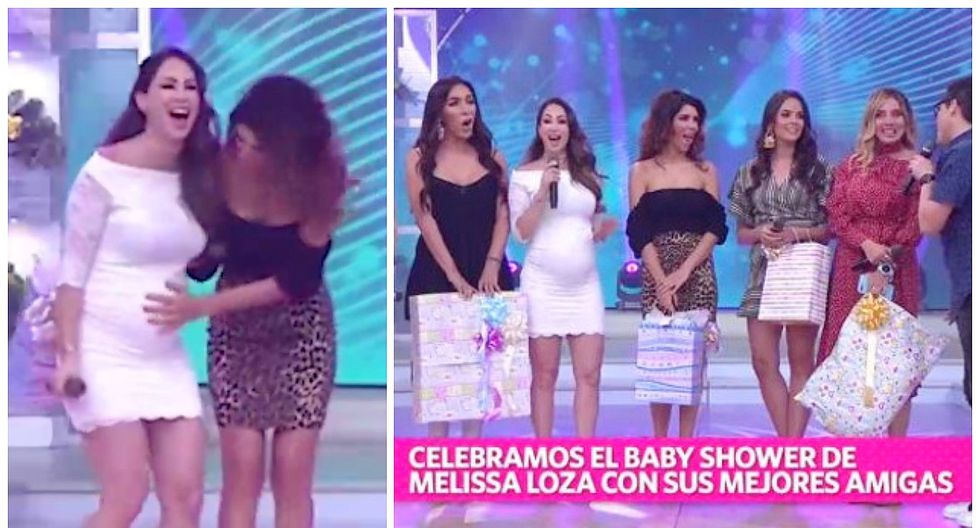 Melissa Loza se reencontró con exmodelos de 'Habacilar' en su primer baby shower (VIDEO)