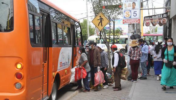 Buses que hacen servicio a 6 distritos de Arequipa tendrán separación de asientos