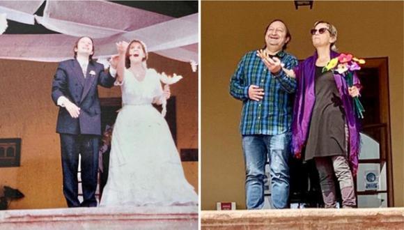 Gonzalo Torres regresó con su esposa al mismo lugar donde se casaron.   Foto: Instagram.