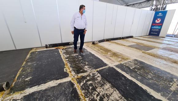 El presidente del Congreso, Manuel Merino, realizó labores de fiscalización en hospital de Tumbes. (Foto: Congreso)