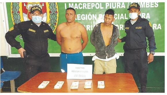 Robaron S/ 5,000 a vendedor y purgarán condena en el penal de Piura.