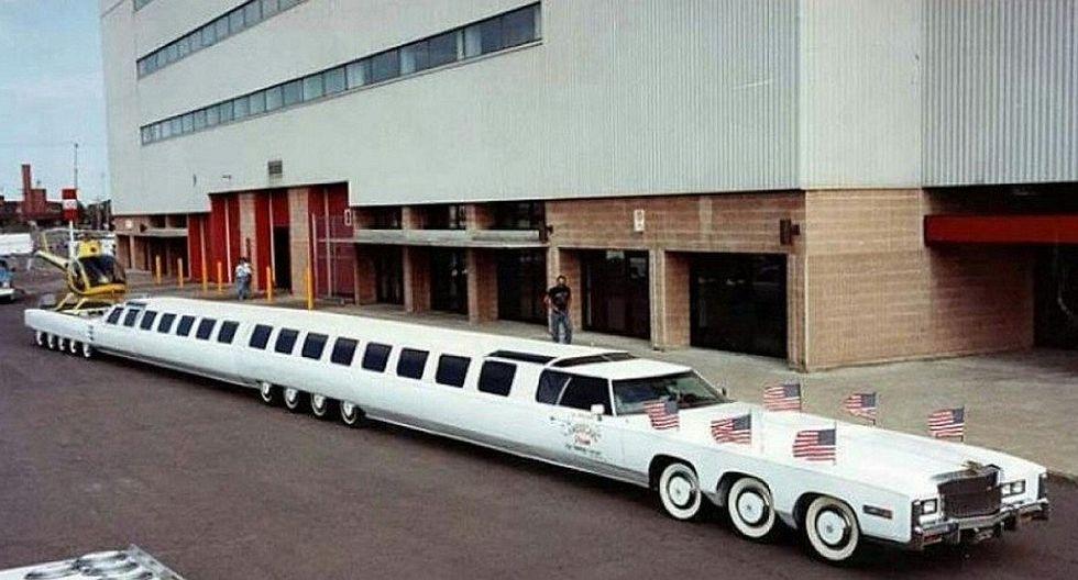 Conoce el auto más largo del mundo: Tiene jacuzzi, helipuerto y minigolf (VIDEO y FOTOS)