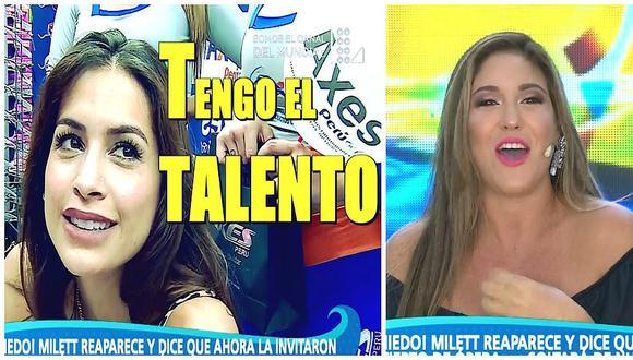 Milett Figueroa asegura que tiene talento y Tilsa Lozano se burla en vivo (VIDEO)