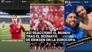 Así fue la reacción del mundo del fútbol tras el desmayo de Eriksen en la Eurocopa