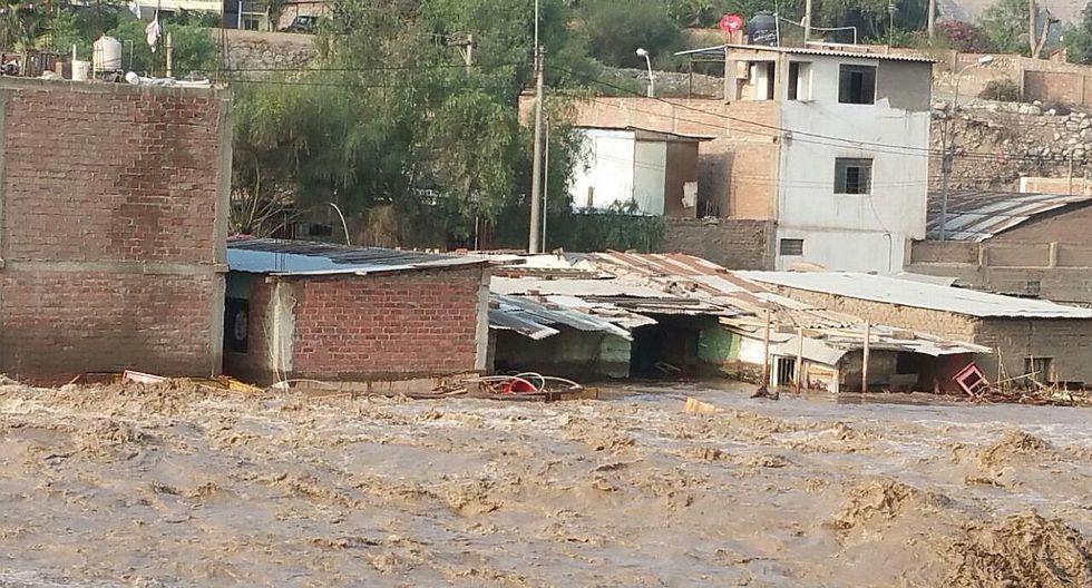 Alerta roja por nuevo huaico e incremento del caudal del Río Rímac