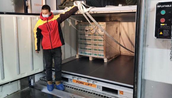 El primer embarque de la vacuna contra el coronavirus ya salió de China. (Foto: Presidencia del Perú)