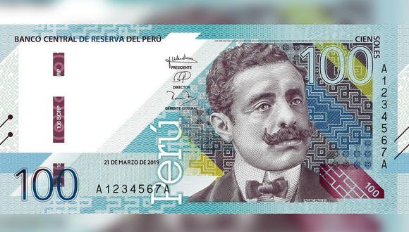 El rostro de Pedro Paulet se luce en el nuevo billete de 100 soles que puso en circulación el BCR este jueves. (Foto: BCR)