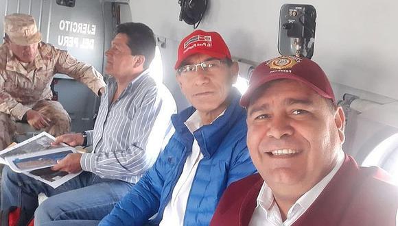 Presidente  Vizcarra sobrevoló zona donde se va construir represa de Yanapujio