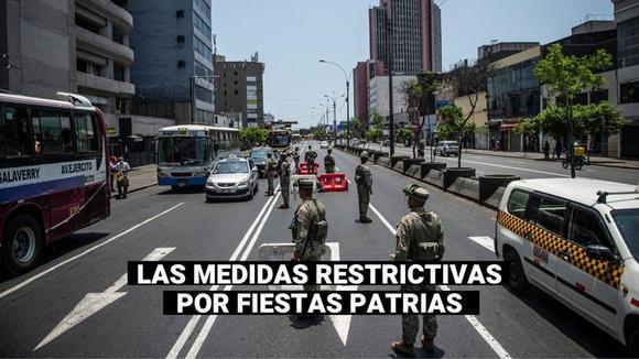 Fiestas Patrias: Estas son las restricciones para el 28 y 29 de julio por el COVID-19