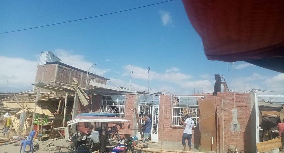 Fuertes vientos afectan viviendas en A.H. Los Polvorines