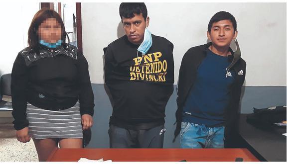 Agentes de la Divincri de Chiclayo, sospechas que estas tres personas se dedican al robo de celulares en diferentes zonas.