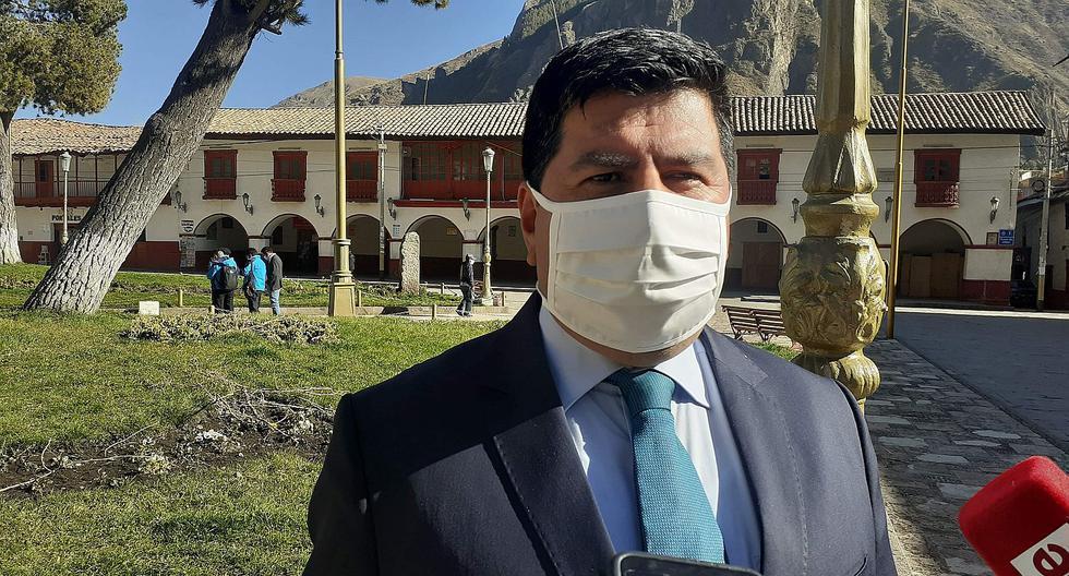 Gobernador regional de Huancavelica da positivo a COVID - 19
