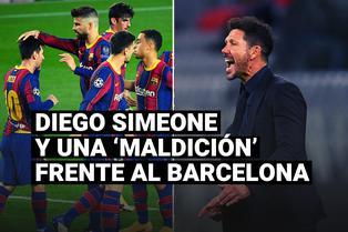 Diego Simeone y una 'maldición' que no ha podido romper frente al Barcelona