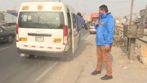 Un video registró el momento en que el conductor intentó embestir al reportero Marcos Matías y el camarógrafo Renato Futuri para frustrar la cobertura informativa. (Captura: BDP)