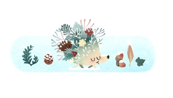 El doodle, que hace alusión al frío que se vivirá mientras dure la temporada, puede verse en Argentina, Uruguay, Chile, Paraguay, Bolivia, Perú, Brasil y Sudáfrica. (Captura / Google)