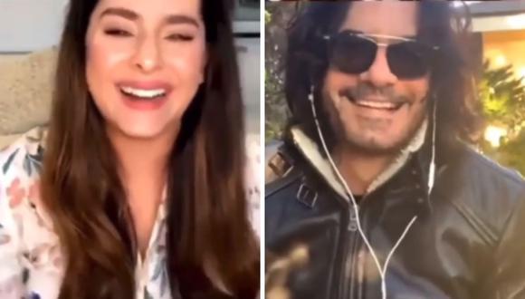 """Danna García y Mario Cimarro tuvieron una charla virtual sobre """"Pasión de gavilanes"""". (Foto: Instagram / @dannagarciao / @mariocimarro)"""