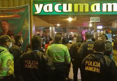Intervienen a 300 personas en local que no contaba con licencia de funcionamiento en Callao