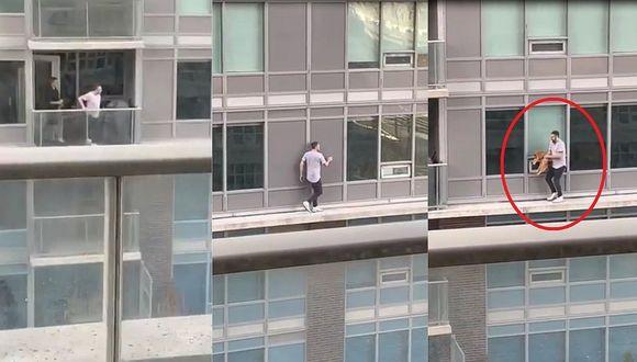 Hombre arriesga su vida para rescatar a su gato (VIDEO)