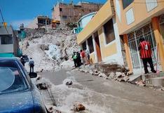 Arequipa: Ruptura de tubería de agua afectó a 6 distritos y causó daños en viviendas