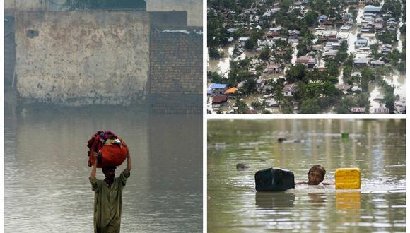 Centenares de muertos y millones de evacuados por el monzón en Asia