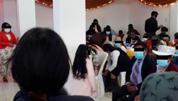 La policía encontró menores de edad en el local, así como invitados que no respetaban el distanciamiento social. (Foto PNP)