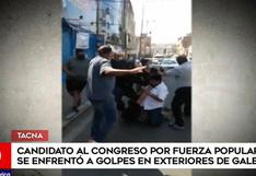 Tacna: postulante al Congreso por Fuerza Popular es captado peleando en la vía pública (VIDEO)