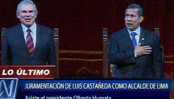 """Ollanta Humala a Castañeda: """"Lucho vamos a trabajar juntos porque Lima no puede parar"""" (Video)"""