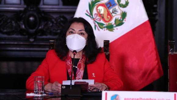 La titular de la PCM, Violeta Bermúdez, realizó conferencia de prensa. (Foto: PCM)
