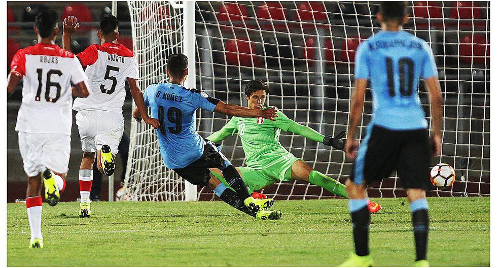Gran tapada de Emile Franco permitió que Perú derrote a Uruguay en el Sudamericano Sub 20 (VIDEO)