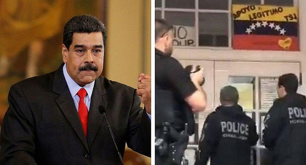 Venezuela denunciará a Estados Unidos por el asalto a su embajada en Washington (VIDEO)
