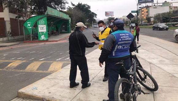 Ladrón de bicicletas fue capturado en Surco. (Municipalidad de Surco)