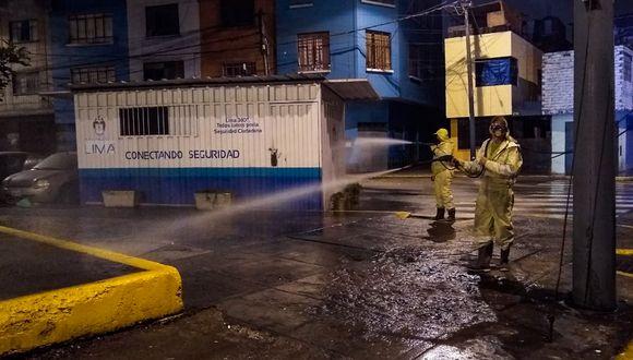 Estas acciones se realizaron en el marco del estado de emergencia por el nuevo coronavirus (COVID-19). (Foto: Municipalidad de Lima)